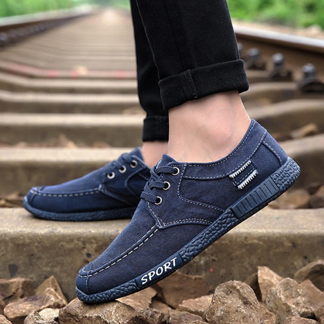 Men Canvas Shoes Low Top Sneakers