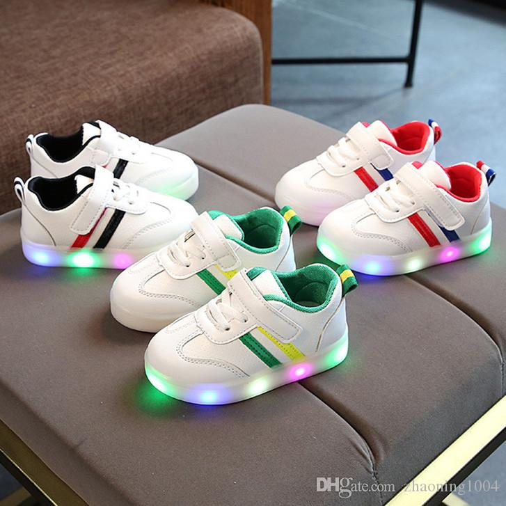Kids Shoes Baby Toddler LED Sneakers Infant Running Sport Shoes Children Youth Boys Girls Shoes Chaussures Pour Enfant