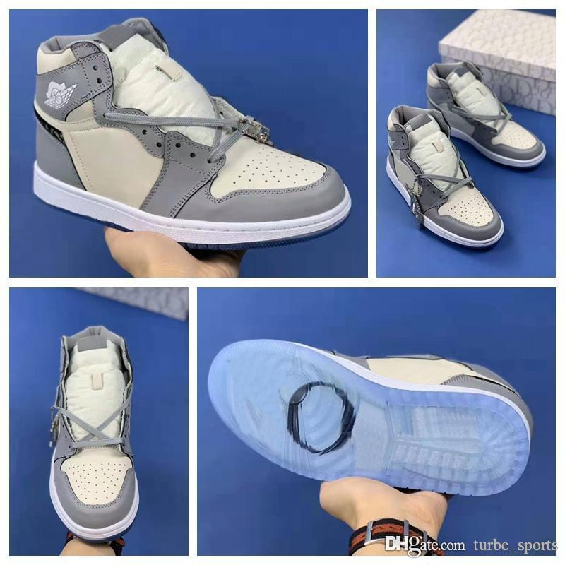 2020 New AJ 1 High OG Jumpman 1s Designer Sneakers Luxury Mens Womens Basketball Shoes AH7389-101 Sports air Trainers with Box