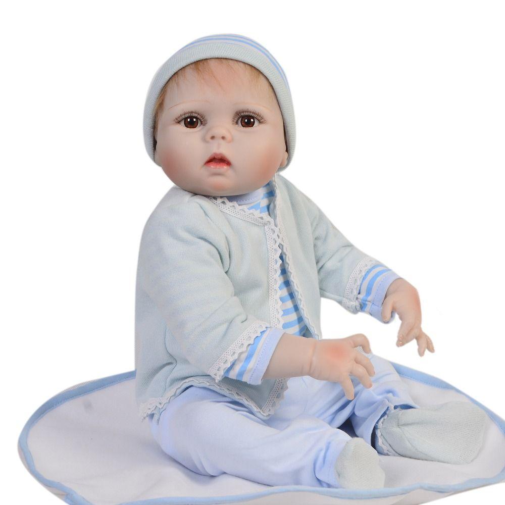 4b7d3833cfada Acheter Plein Silicone 23 57cm Bébés Reborn Poupée Bébé Reborn Adorables  Bonecas Réalistes Jouet Anniversaire Cadeaux De Noël Collection Vente  Chaude Filles ...
