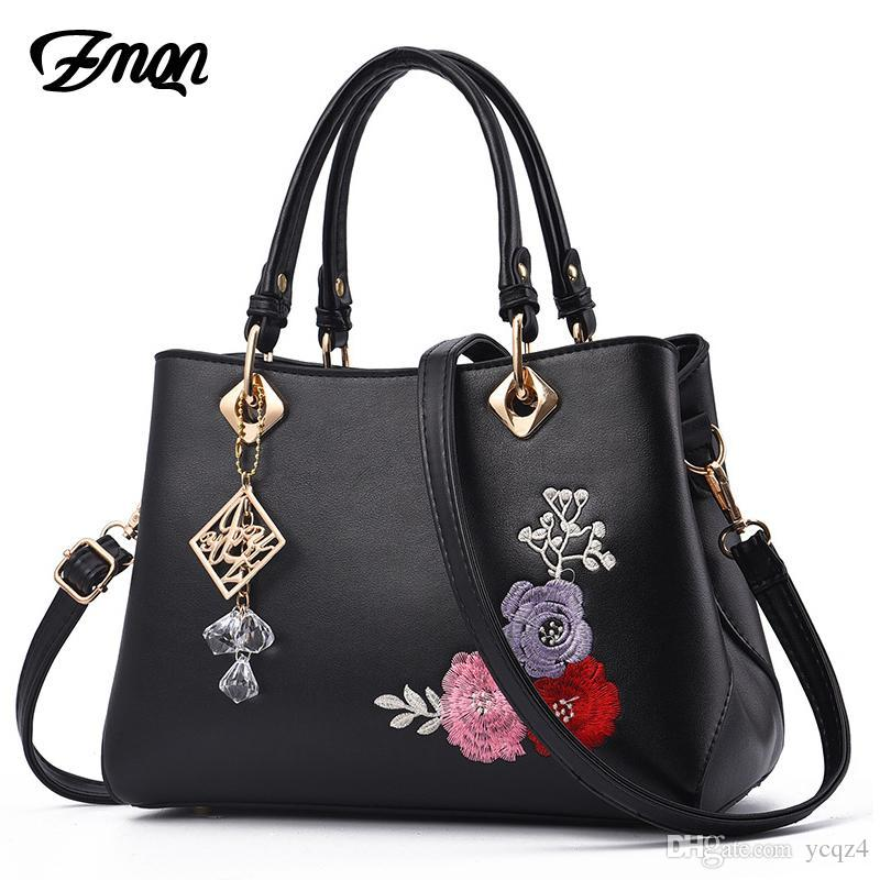 Luxury Handbags Women Bags For Shoulder Crossbody Bag Leather Designer Handbag High Quality Embroidery Flower Bag A866
