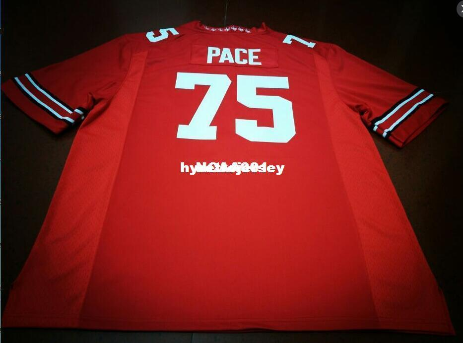 c22c96e29b1 2019 Cheap Men  75 Orlando Pace Ohio State Buckeyes College Jersey White  Red Black Personalized XS 6XL Or Custom Any Name Or Number Jersey NCAA From  ...