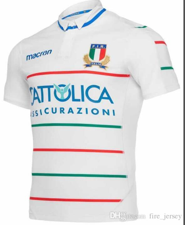 fdc1be0b8f 2019 2019 2020 Italy Home Blue Away White Rugby Jerseys FIR Shirt Italia  National Team Abbigliamento Da Calcio Italy League Jersey Size S 3XL From  ...