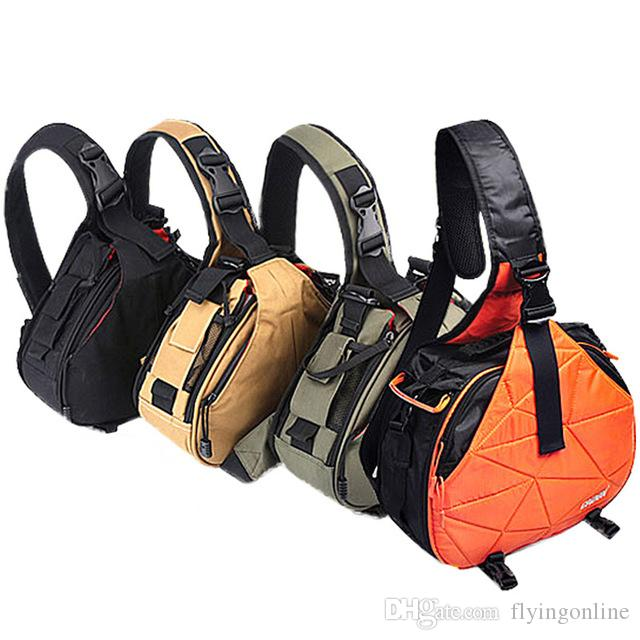 2019 Waterproof Travel Small DSLR Shoulder Camera Bag With Rain Cover  Triangle Sling Bag For Sony Nikon Canon Digital Camera K1 From  Flyingonline e71a8afe7c970