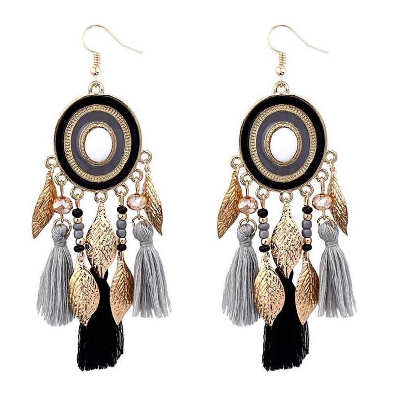1862db9a3 Handmade Bohemian Tassel earrings Vintage Drop Earrings New Long Statement  Fringe For Women boucle d'oreille femme 2019