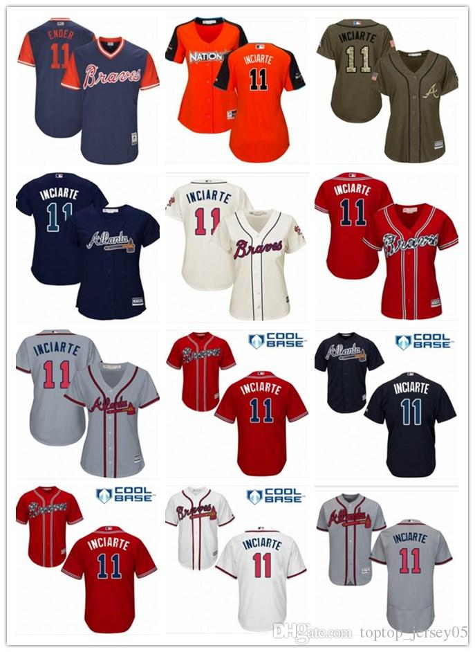 huge discount c0683 dbac6 2018 top Atlanta Braves Jerseys #11 Ender Inciarte Jerseys  men#WOMEN#YOUTH#Men s Baseball Jersey Majestic Stitched Professional  sportswear