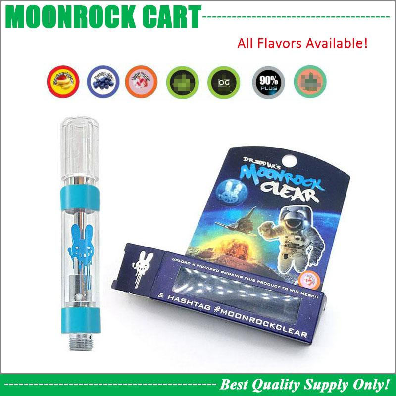 2019 Blue MoonRock Clear Cartridge Dank Vapes Carts Excellent Performance  Ceramic Coil 1 0ML Thick Oil Vape Pen Atomizer