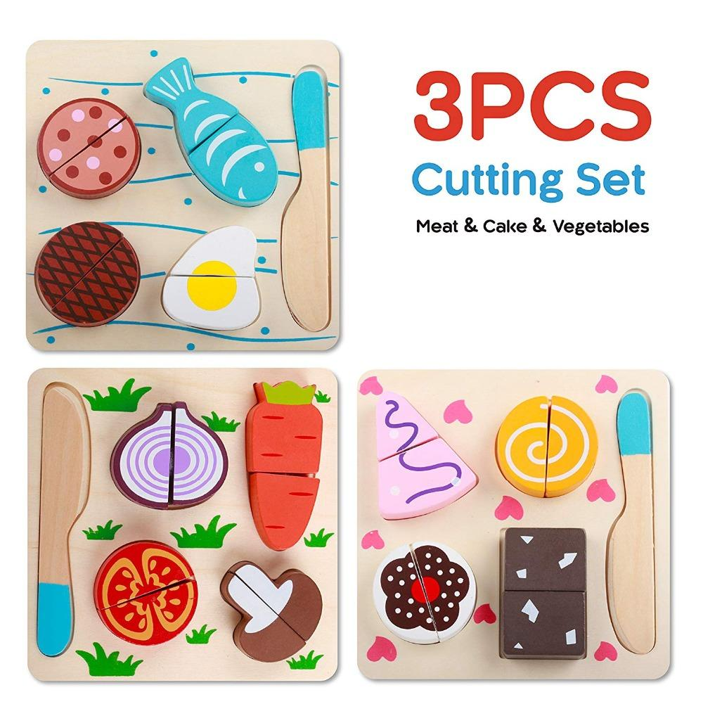 Prime Wooden Toy Kitchen Cut Fruits Vegetables Dessert Kids Cooking Kitchen Toy Food Pretend Play Puzzle Educational Toys For Children Download Free Architecture Designs Jebrpmadebymaigaardcom