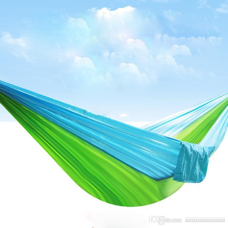 2 People Portable Hammock Outdoor Leisure Hammock For Camping Travel Survival Garden Hunting Leisure Furniture Parachute Hammock Modern Techniques Camping & Hiking