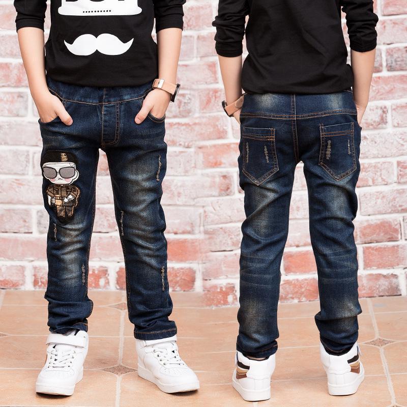 Acquista Hot 2019 Autunno 3 12 Anni Ragazzi Jeans Abbigliamento Bambini  Neonati Maschi Modelli Di Cartoni Animati Bambini Pantaloni Casuali Marchio  ... 122c6be17fe