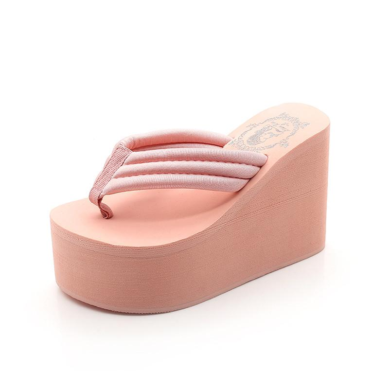 1112671240f51 2019 New Heels Slipper Shoes Woman Summer Sandals Flip Flops Super High  Heel Beach Wedges Platform Women Slippers Designer Ladies Flipflops Grey  Boots Boots ...