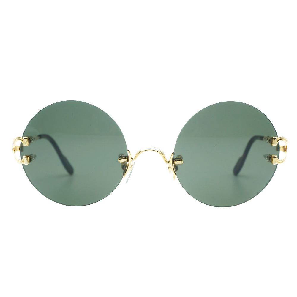 9b1a0547b5 Compre Retro Gafas De Sol Redondas Hombres De Lujo Marco De Gafas De Sol  Para Las Mujeres De Alta Calidad De Moda Tonos Al Por Mayor Gafas De Sol  Gafas A ...