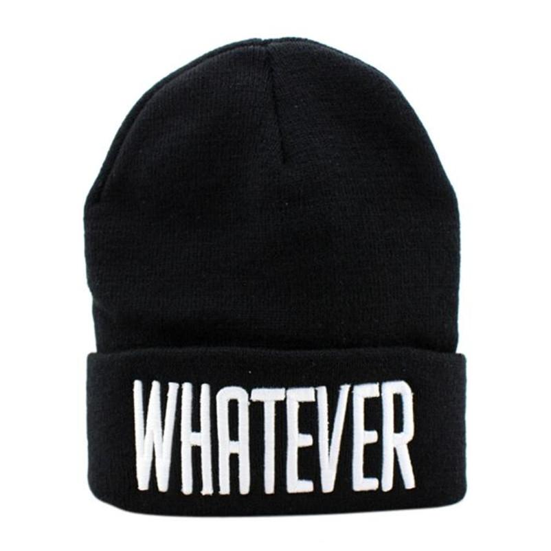 Winter Black Whatever Beanie Hat e Snapback Men And Women Cap # Nov29