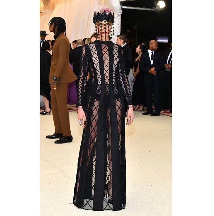 1a030304b28 Black Maxi Lace Mesh Women Elegant Turtleneck Long Sleeve Dress 2018 NEW  Vestido Celebrity Evening Party Bandage Bodycon Dresses Lace Dress Black  Dresses ...