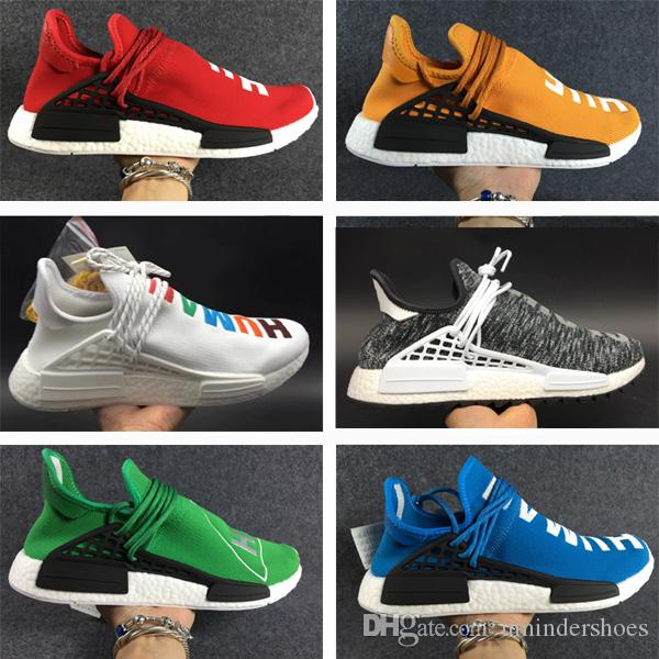 8179bb8854293 2019 Black NERD Human Race Pharrell Williams Shoes Hu NMDS Mood Cloude  Runner Sneakers Matching Rubber Trail Outsole For Sale Men Women From  Umindershoes