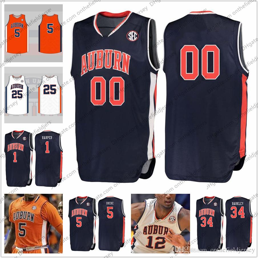 Custom Auburn Tigers Stitched College Basketball Jersey Any Name ... 1326b8887