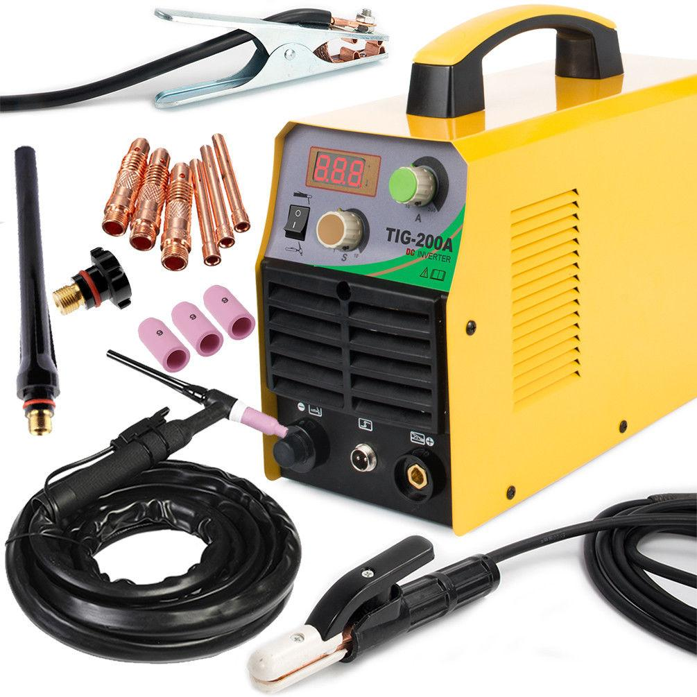 TIG 110/220V DC Inverter 200Amp Argon Gas WIG Welding Machine Weld Welder  Easy
