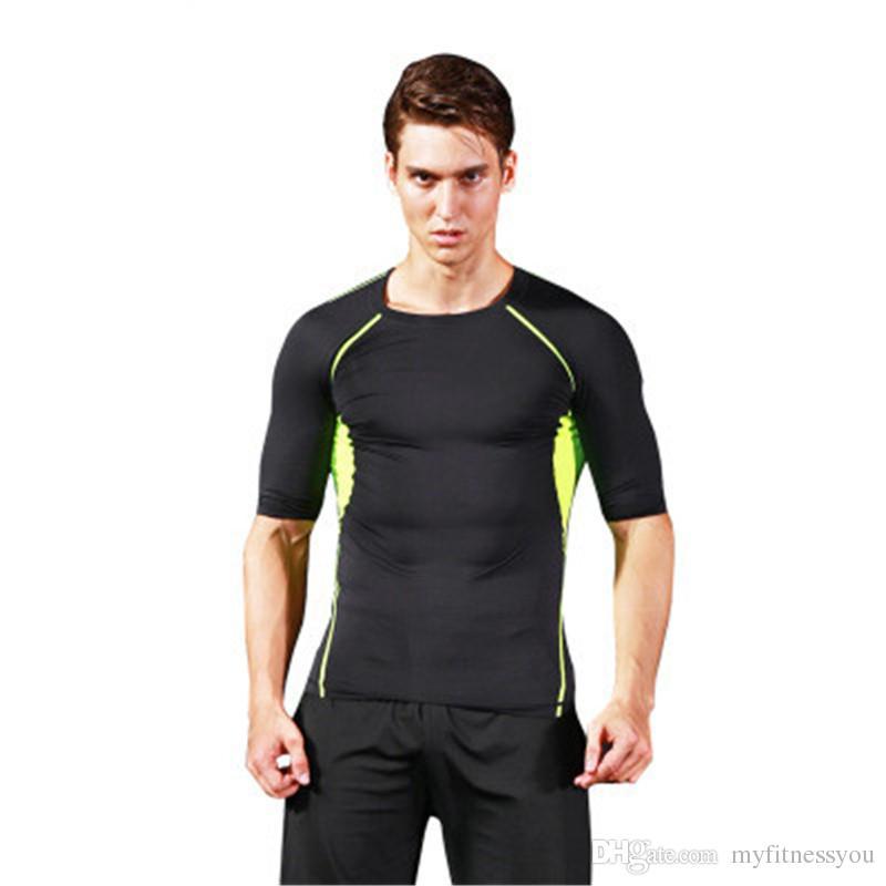 Westen Sport & Unterhaltung Männer Fitness Workout Laufen Jogging Gym Sport T-shirt Engen Elastische Schnell Trocknend Kompression Shirt Sportswear Weste Top 4022