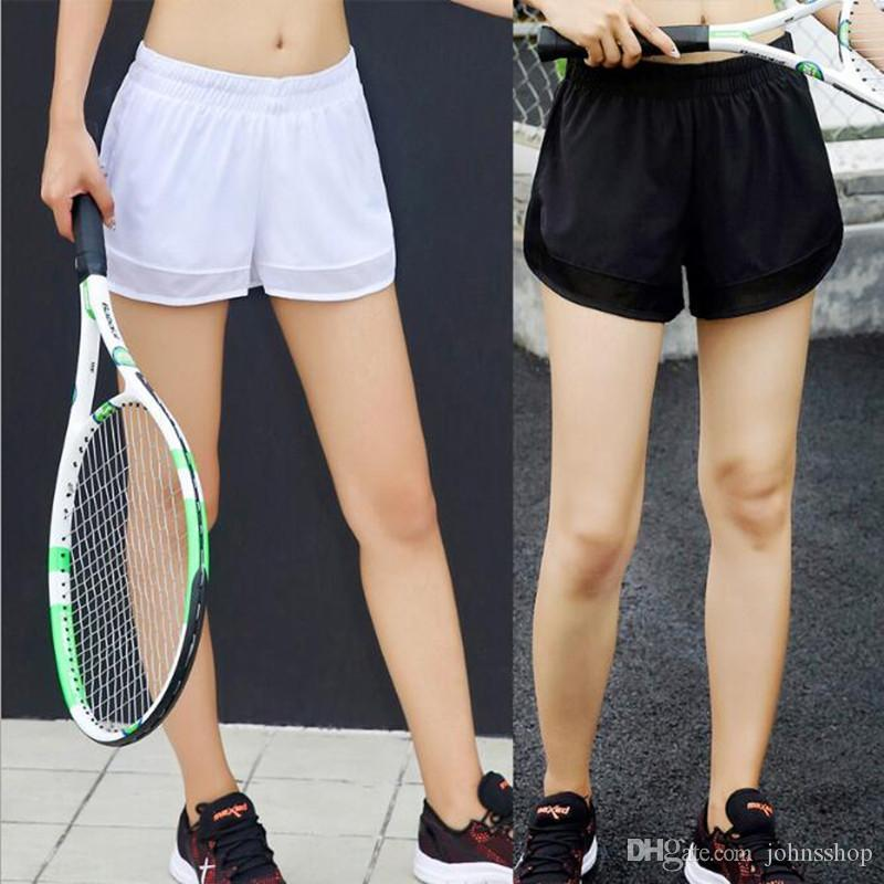 Fashion New Fake Two-piece Casual Sweatpants Gauze Shorts Women Anti-light  Loose Breathable Running Yoga Fitness Shorts Women hardwear short