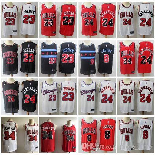 another chance 73c9b ba459 Chicago 2019 Bulls #23 Michael JD Zach LaVine Lauri Markkanen Wendell  Carter Jr. Basketball Jerseys Stitched Retro Classic Mesh Bulls Jersey