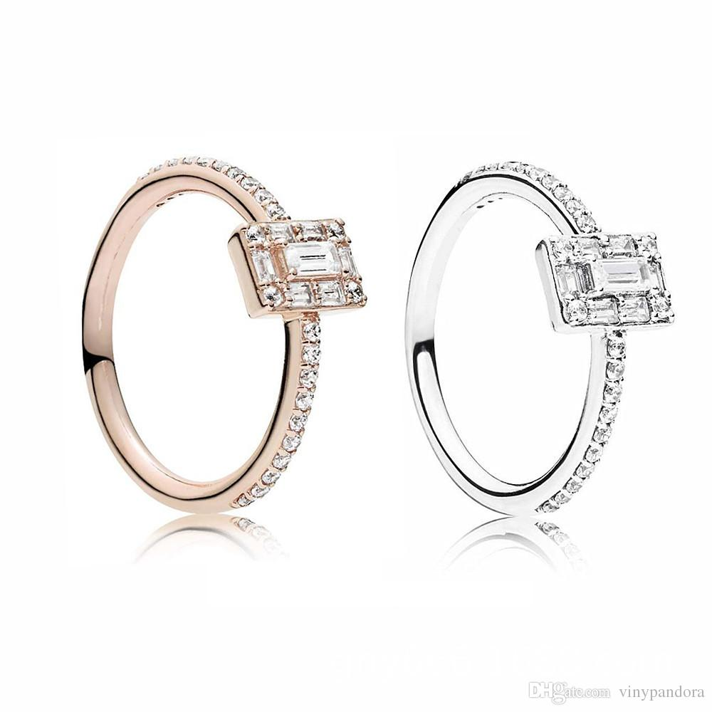 410189b15 2018 New Winter 925 Sterling Silver Luminous Ice Ring With Cubic Zirconia  Fit Pandora Jewelry Engagement Wedding Lovers Fashion Ring Diamond Wedding  Bands ...