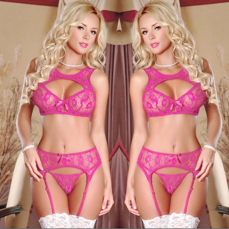 2018 Nuovo arrivo Sexy Lingerie Nightwear Crotchless Body calza Suspender Body Fishnet Sheer Body Dress Underwear