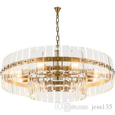 2019 Modern Luxury Crystal Chandelier Creative Design Living Room Gold Crystals Light Dining Room Chain Chandeliers Lighting AC 90-265V