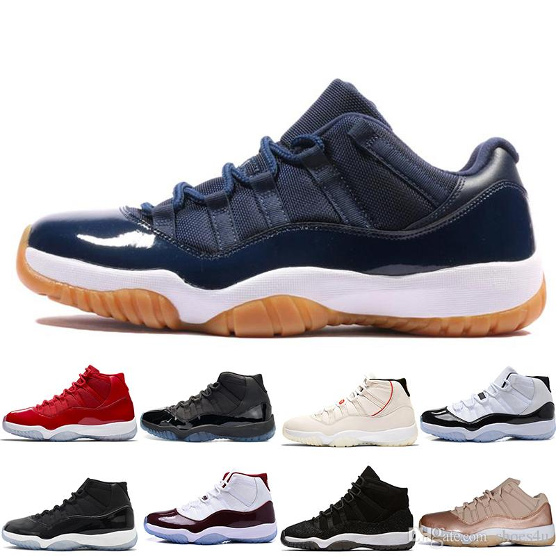 2dd20d14736d57 11 11s Mens Basketball Shoes Concord 45 Platinum Tint Prom Night Gym Red 11  XI Bred Womens Trainers Sports Sneakers Designer Size 36-47 Online with ...