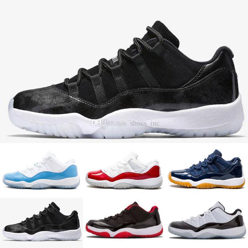 dc3990e3291 2019 11 LOW Bred IE COBALT Concord NAVY GUM Blue Moon Georgetown Retro  Basketball Shoes 11s Sneaker XI Closing Ceremony Sports Shoes Athletics  From ...