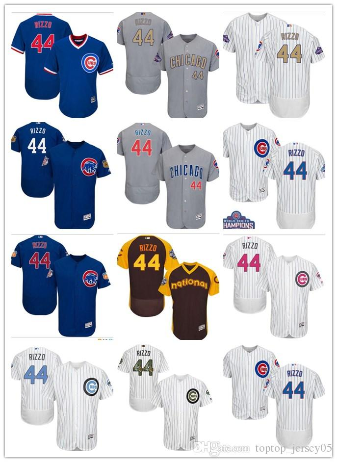 a2f81a8b0 2019 2018 Can Chicago Cubs Jerseys  44 Anthony Rizzo Jerseys Men WOMEN YOUTH Men S  Baseball Jersey Majestic Stitched Professional Sportswear From ...