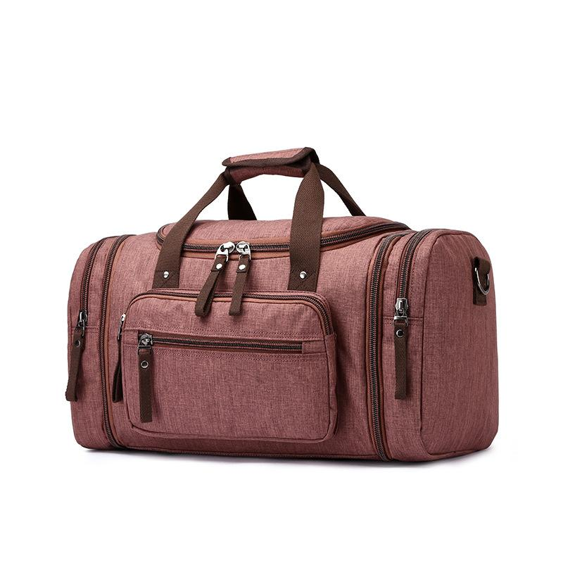 9eb3547cce65 Canvas Duffel Bag Large Capacity Packing Cubes Travel Luggage Organizer Men  Women Travel Bag Carry On Weekend Bag 50cm