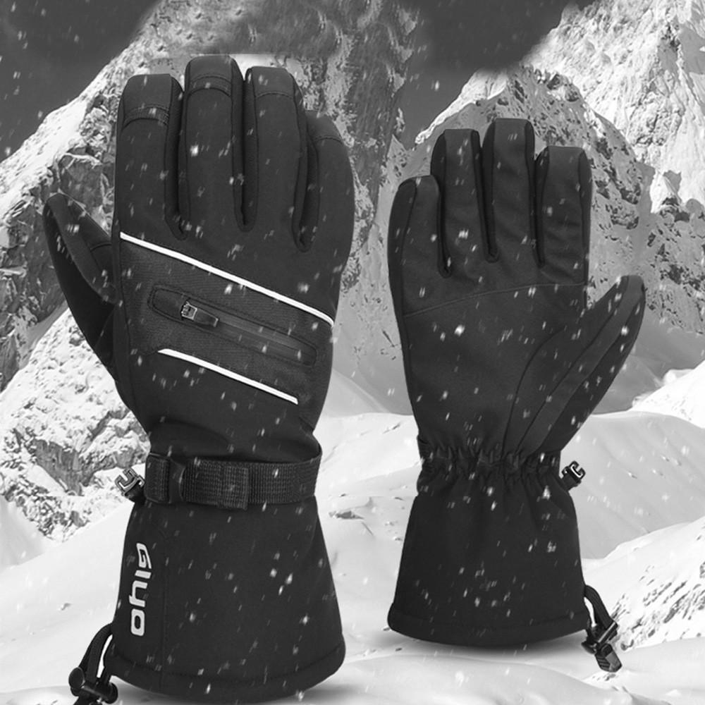 15706d4db Compre Inverno Luvas De Esqui Isolamento Térmico TPU À Prova D  Água  Suporte Deslizante Tela Do Telefone Snowboard Luvas De Esqui Com Fivela  Pendurado PJ5 ...