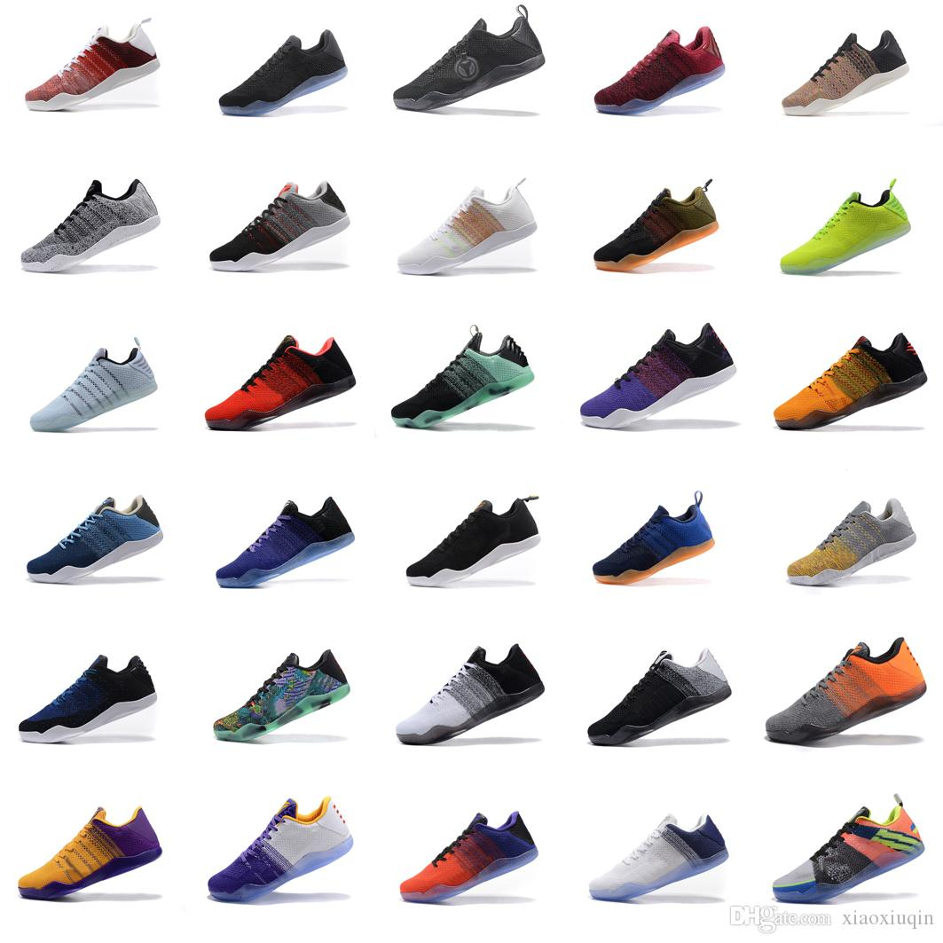 4fe5e5abfad2 2019 Mens Kobe 11 Elite Low Basketball Shoes GCR Black White Red FTB 4KB  Beethoven BHM Oreo Easter USA Tinker Kb Xi Generations Sneakers With Box  From ...