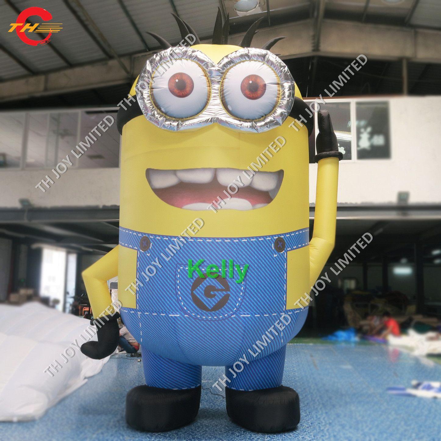 Acquista gonfiabile piccolo piccolo uomo giallo fumetto gigante