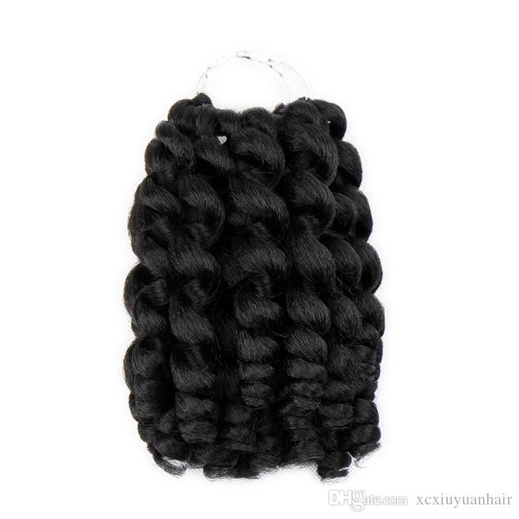 Jumpy Wand Curl Crochet Braids 8 inch 20 Roots 1 Piece Bounce Synthetic Crochet Braiding Twist Hair Extension for Black Women Free Shipping