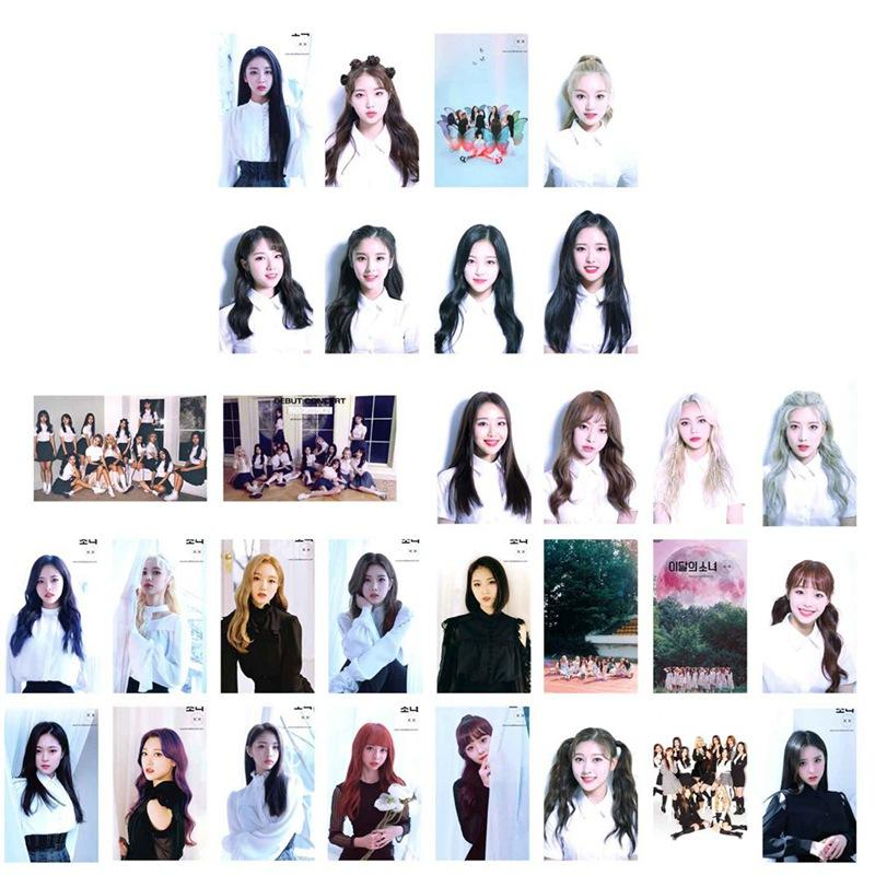 30pcs/set K-POP LOONA New Album Butterfly Photo Cards Self Made Paper Lomo  Cards Fans Gift Collection