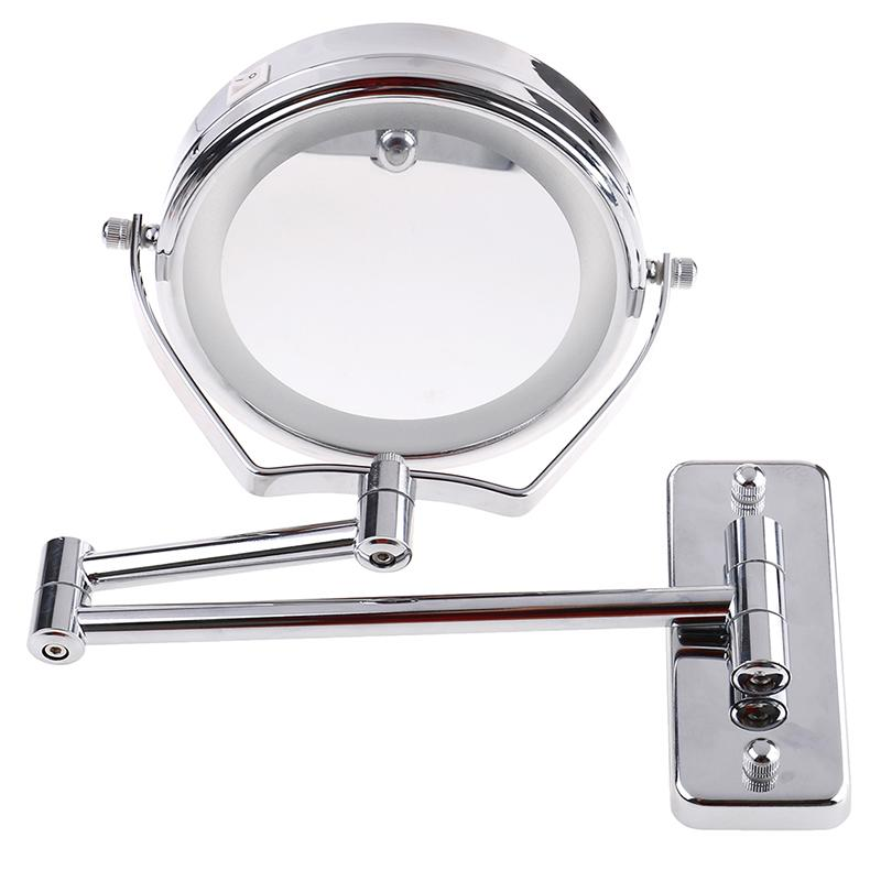 Silver 6 Led Light Makeup Mirror Led Makeup Mirror With Light