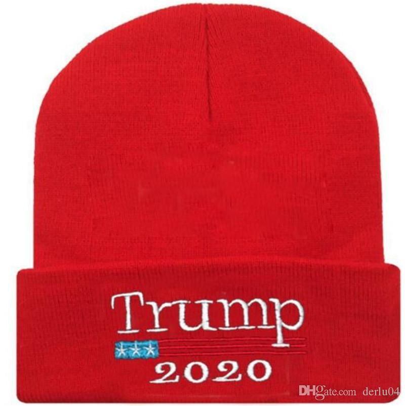 Trump 2020 Election Donald Caps Hats Adults Sports Knitted Winter Make America Great Again Hat Custom Birthday First