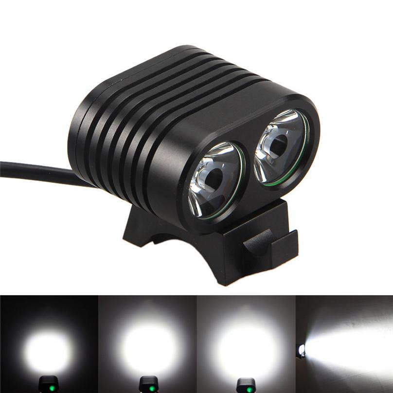 8000 Lm 2 x XM-L2 LED Lamp Bicycle Light Front 4Modes Bike Light 18650 Waterproof Headlight Cycling Torch Headlamp 40OT11..