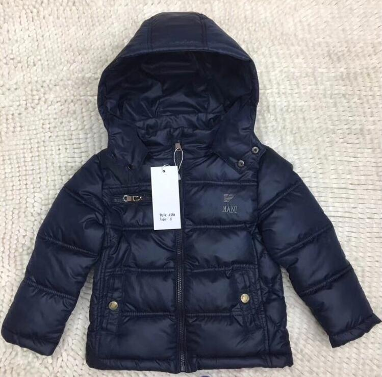 Winter Light children's winter jackets Kids cotton jacket for baby boy Outerwear Hoodies Children boy Coat A05