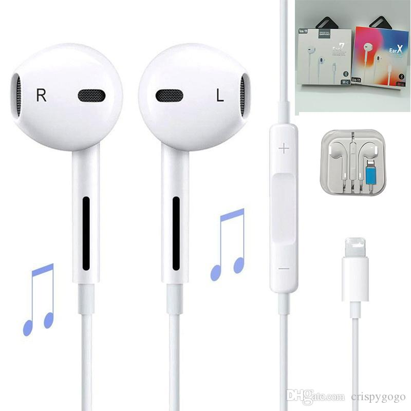 Cuffie auricolari con cavo Bluetooth auricolare per Apple IPhone X XR XS Max 8 7 6 6S Plus 6 5 5S Auricolari con microfono Ear Phone