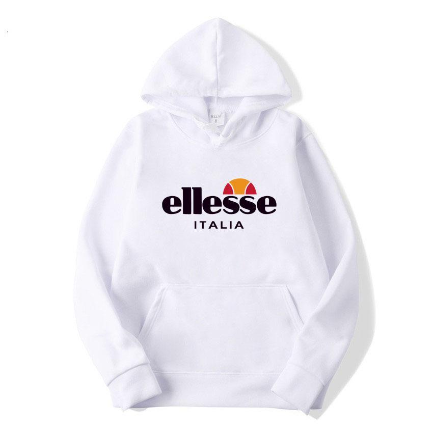 9ee5b836fd Mens white designer hoodie sweatshirt sweat coat pullover fashion spring  and autumn new Ellesse Hoodie men's hooded sweater