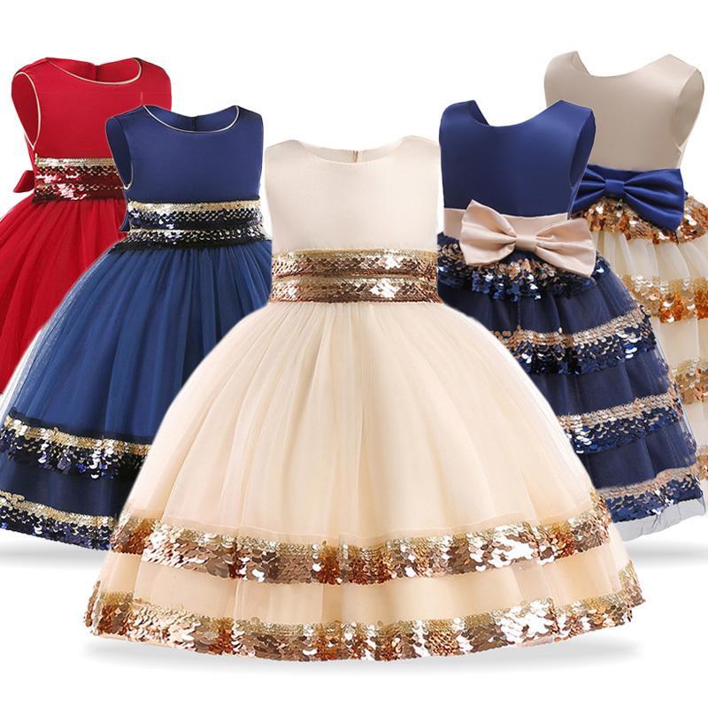 4b6c85433 Niños para la boda Niños elegantes Princesa Vestidos de fiesta de noche  Vestidos de niñas pequeñas de flores Vestido Infantil Q190604