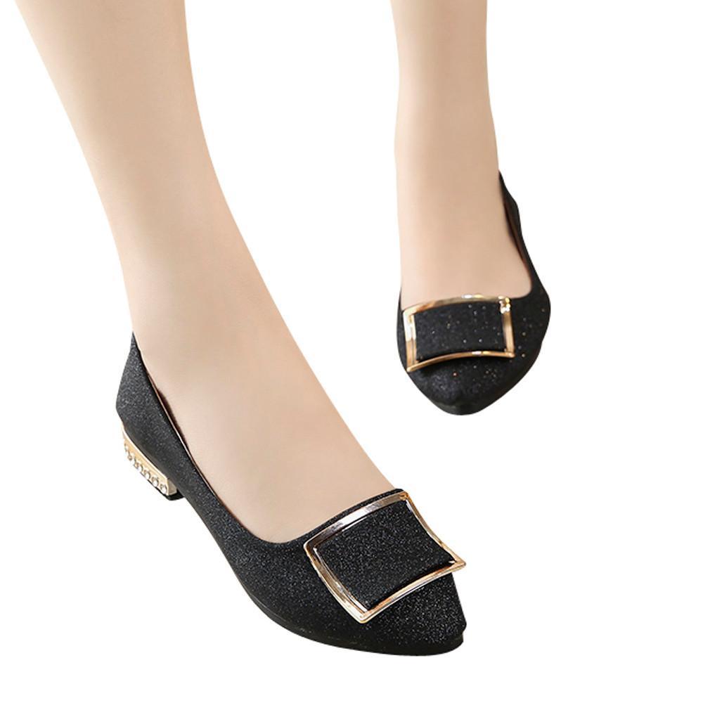 bcff6c397b1 2019 Dress YOUYEDIAN Women Shoes 2018 Women Shoes Low Platform Zapatos  Mujer Tacon Comfortable Women Pump Cheap Single Shoes Black     Penny  Loafers Wedges ...
