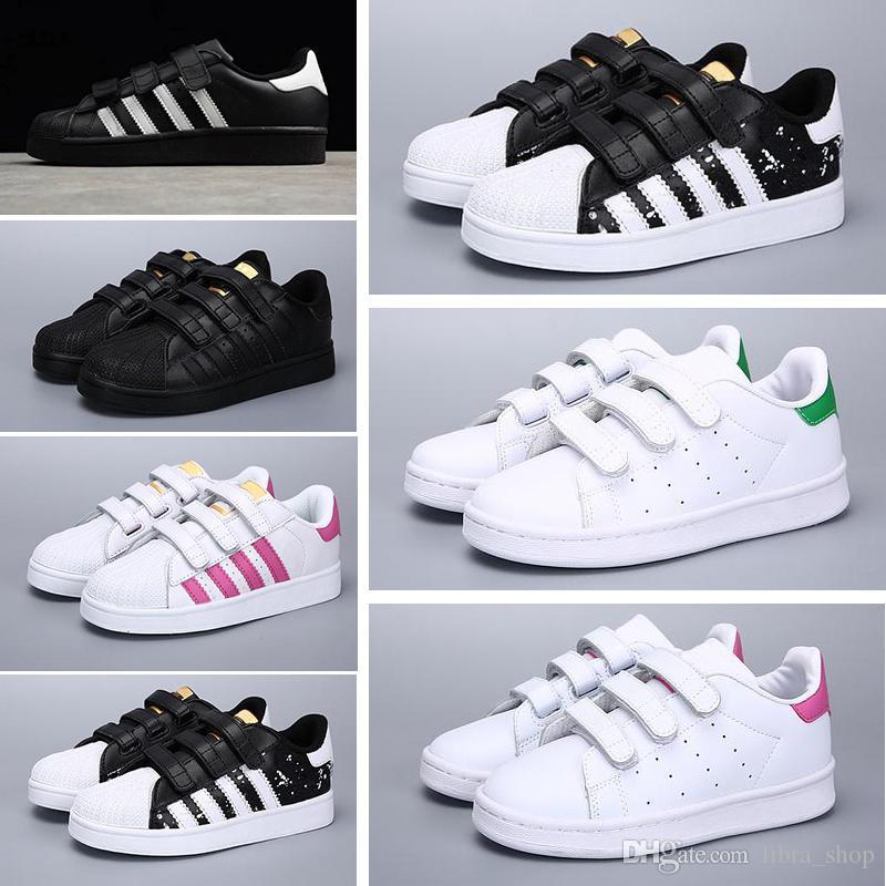 139386c73 Compre Adidas Superstar 2018 Marca Shell Head Boy Y Niñas Zapatillas De  Deporte Superstar Niños Zapatos Para Niños Zapatos Stan Nuevos Zapatillas  De Deporte ...