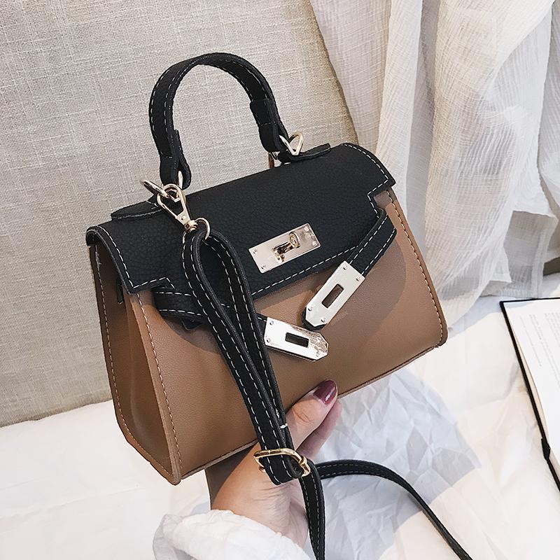 3535789eca British Retro Fashion Women S Designer Handbag 2019 New High Quality PU  Leather Women Bag Contrast Tote Shoulder Crossbody Bags Small Backpacks  Vintage ...