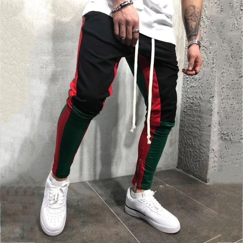 Top Sweatpants Joggers Running Sport Pants Men Training Gym Leggings Cotton Fitness Clothing High Waist Hip Hot Mens Track Pants SH190912