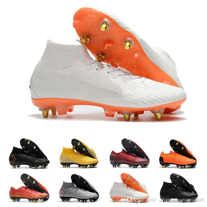 00f50521f6167 Ronaldo Cr7 Soccer Shoes For Women Men High Quality Soccer Cleats Mercurial  Superfly Champions Football Boots Mens Trail Running Shoes Jogging Shoes  From ...