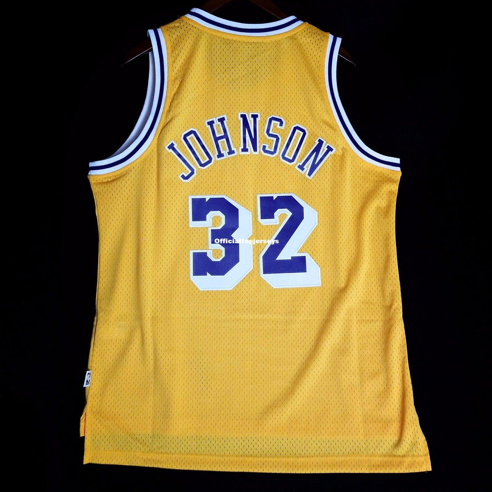 916a7c8caf7b 2019 100% Stitched  32 Johnson Soul Vest Wholesale Yellow Jersey Kobe Mens  Vest Size XS 6XL Stitched Basketball Jerseys Ncaa From Officialtopjerseys
