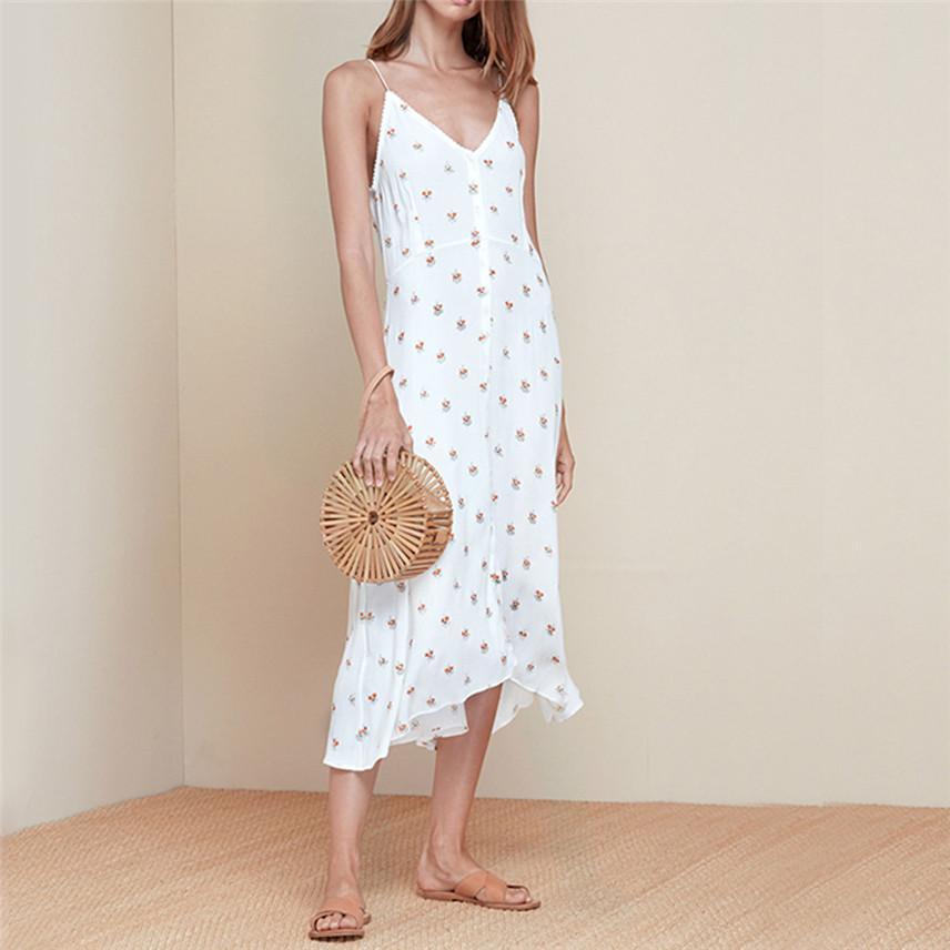 cbefb6f934976 Women Fashion Plus Size Print Dot V Neck Ruffles Sleeveless Camis Loose  Dress Dropshipping Vestido Rochie Kjole Vestir Y* Elegant Dresses Polka Dot  Dress ...